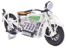 1930 Indian Chief Motorcycle NEWRAY Diecast 1:12 Scale White
