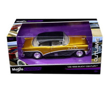 1955 Buick Century MAISTO OUTLAWS Diecast 1:26 Scale Black & Gold