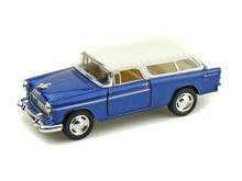 1955 Chevrolet Nomad KINSMART Diecast 1:40 Scale Blue & White FREE SHIPPING