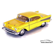 1957 Chevrolet Bel Air KINSMART Diecast 1:40 Scale Yellow FREE SHIPPING