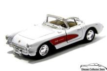 1957 Chevrolet Corvette KINSMART Diecast 1:34 Scale White FREE SHIPPING
