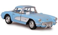1957 Chevrolet Corvette Kinsmart Diecast 1:34 Scale  Lt. Blue