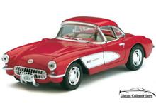 1957 Chevrolet Corvette KINSMART Diecast 1:34 Scale Red FREE SHIPPING