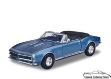 1967 Chevrolet Camaro SS MOTORMAX Diecast 1:24 Scale Blue w/white Hood Stripe