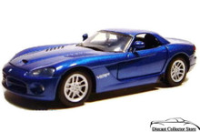 2003 Dodge Viper SRT-10 MOTORMAX Diecast 1:24 Scale Blue