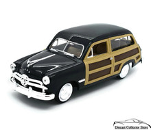 1949 Ford Woody Wagon MOTORMAX Diecast 1:24 Scale Black Woodie