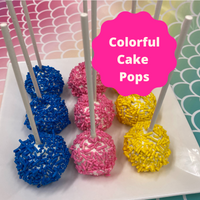 Choose cake pops as the chosen dessert for your next party. Yellow cake pops dipped in white chocolate.and sprinkled with festive colorful confetti sprinkles.