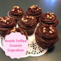 [Heath Toffee Crunch Cupcakes]