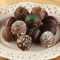 Magnificent. Dangerously delicious. Dark chocolate and milk chocolate truffles.