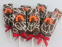 "Fudge Brownie Cake Pops-Fall ""Thanksgiving"""