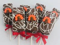 "Fudge Brownie Cake Pops-Fall ""Thanksgiving"""