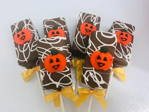 Pumpkin Brownie Pops!