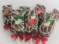 Fudge Brownie Cake Pops-Christmas Stockings