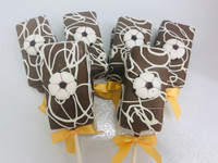 We have the cutest soccer inspired fudge brownie pops so you can create the perfect World Cup dessert for your next viewing party. Better yet just order a box for yourself or send to someone special to brighten their day!  Sure to be a croud pleaser!