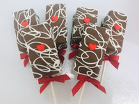 We have the cutest love inspired fudge brownie pops why not send these for someone you love just to brighten their day.  A box of these delicious brownie pops will disappear fast!