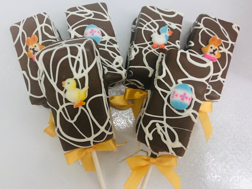 The Easter Bunny sends these fudge brownie pops to everyone that is special.  Order a box today to send to anyone deserving of this special treat!