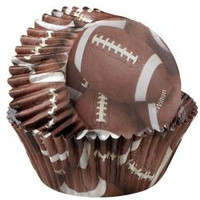 Football Brown Baking Cups