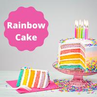 [Almond Rainbow Cake]