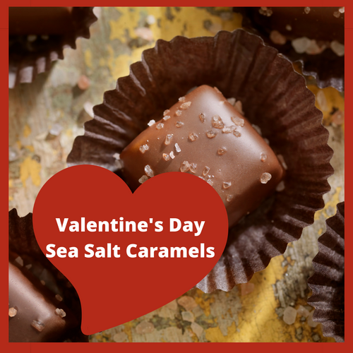 Sea Salt Caramels a delicious combo of sweet and salty!  Who can resist eating the whole box.