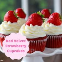 [Red Velvet Strawberry Cupcakes]