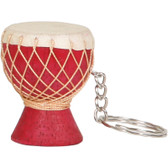 Djembe Keychain, Red
