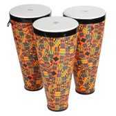 X8 Drums Stacking Hand Drums with Straps, 3-Pack Large