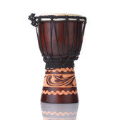 Kalimantan Djembe with Bag, 7 in.