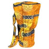 Celestial Gold Djembe Backpack Bag, Large