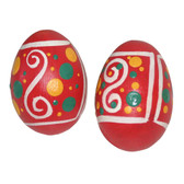 Pink Hand Painted Wooden Egg Shakers - Pair
