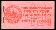 # 425e BK45 F/VF OG NH, complete booklet, VERY RARE, back cover faint crease,  SUPER RARE!