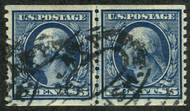 # 496 VF/XF, Line Pair,  very scarce as a used line pair,  RARE!