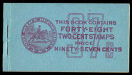 # 806b BK94 COMPLETE BOOK, VF , panes are F/VF NH,  RARE BOOKLET!
