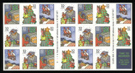 #3116a, 32c Holiday Scenes,  Booklet Pane of 20, STOCK PHOTO