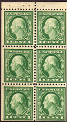 # 498e F/VF OG NH Booklet Pane of 6, Nice and Bold! (Stock Photo - You will receive comparable stamp)
