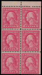 # 499e F/VF OG NH, Booklet pane of 6, Nice! (Stock Photo - You will receive a comparable stamp)