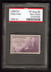 # 737 XF-SUPERB OG NH, w/PSE (GRADED 95, ENCAPSULATED),  fresh