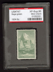 # 747 XF-SUPERB OG NH, w/PSE (GRADED 95 ENCAPSULATED)