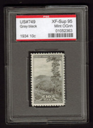 # 749 XF-SUPERB OG NH, w/PSE (GRADED 95 ENCAPSULATED)