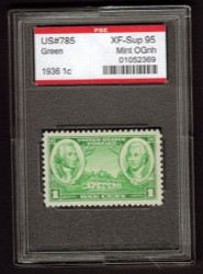 # 785 XF-SUPERB OG NH, w/PSE (GRADED 95 ENCAPSULATED)