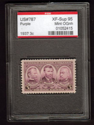 # 787 XF-SUPERB OG NH, w/PSE (GRADED 95 ENCAPSULATED)
