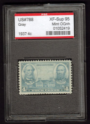 # 788 XF-SUPERB OG NH, w/PSE (GRADED 95 ENCAPSULATED)