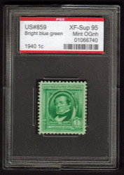 # 859 XF-SUPERB OG NH, w/PSE (ENCAPSULATED (GRADED 95 )), Fresh