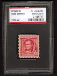 # 860 XF-SUPERB OG NH, w/PSE (ENCAPSULATED (GRADED 95)), Fresh