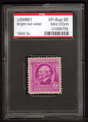 # 861 XF-SUPERB OG NH, w/PSE (ENCAPSULATED (GRADED 95)), Fresh