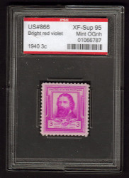 # 866 XF-SUPERB OG NH, w/PSE (ENCAPSULATED (GRADED 95)), Fresh