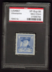 # 867 XF-SUPERB OG NH, w/PSE (ENCAPSULATED (GRADED 95)), Fresh