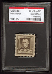 # 868 XF-SUPERB OG NH, w/PSE (ENCAPSULATED (GRADED 95)), Fresh