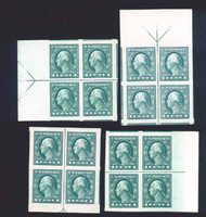 # 481 MONSTER JUMBOS OG NH, four arrow blocks, Parts of all adjoining stamps  A matched Set. of JUMBOS