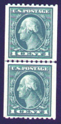 # 441 SUPERB OG NH, Line Pair, Perfectly centered line pair