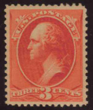 # 214 SUPERB OG NH, w/PSE (09/06)) CERT, a wonderfully fresh stamp with full OG that is Never Hinged.  the PSE calls out light overall toning, which makes little sense to us.  Very nice stamp